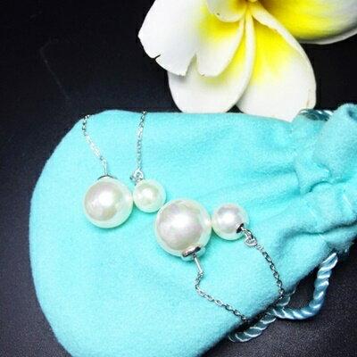 925純銀耳環珍珠耳飾~ 典雅氣質百搭生日情人節 女飾品73ia16~ ~~米蘭 ~