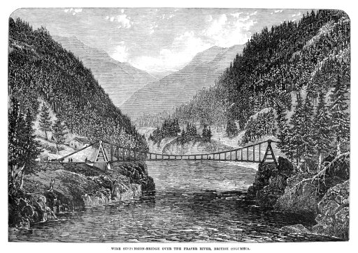 Canada Fraser River 1866 Nsuspension Bridge Over The Fraser River In British Columbia Canada Wood Engraving English 1866 Poster Print by (24 x 36) 3d45f2c62d0a9b2b26c0f0305ddd25c4