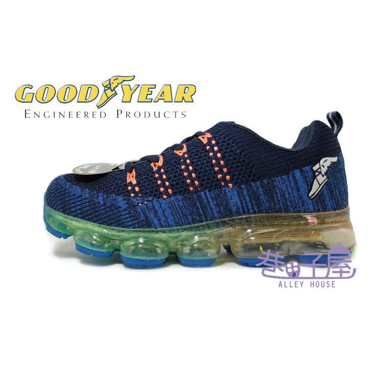 GOODYEAR固特異 大童/女款冰結飛織緩震全氣墊運動鞋 [81016] 藍【巷子屋】