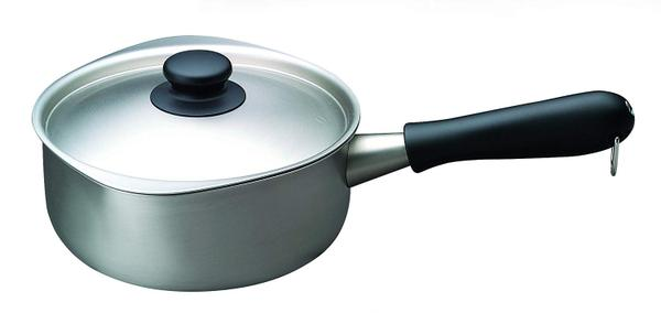 日本製柳宗理SoriYanagi18CM(2L)霧面不鏽鋼牛奶鍋附蓋片手鍋