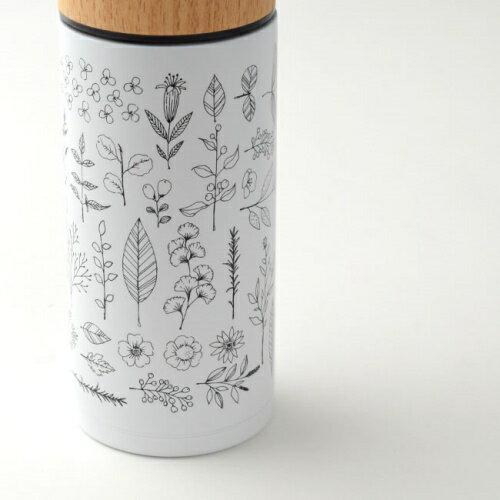 花草/保溫瓶350ml 白