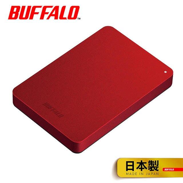 【BUFFALO】2.5吋 防震加密1TB行動硬碟(HD-PNF1.0U3-BR寶石紅) 保全新原廠公司貨含稅附發票