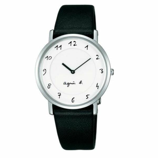 agnes b 7N00-0BC0S(BG4001P1)法式簡約時尚腕錶/白面34mm
