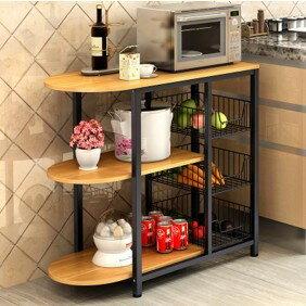 廚房電器架/移動式微波爐架/置物櫃