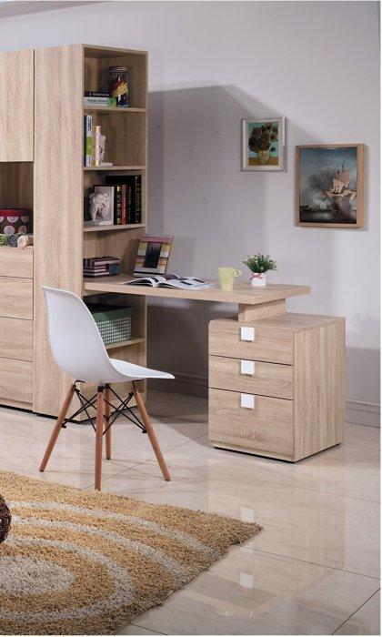 【尚品家具】HY-A91-04 多莉絲伸縮h行書櫥桌組