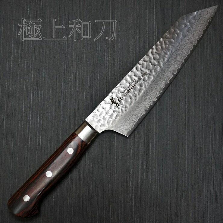 【日本進口菜刀】 堺孝行 33層槌目大馬士革 劍型牛刀 VG10  200mm 7400 8