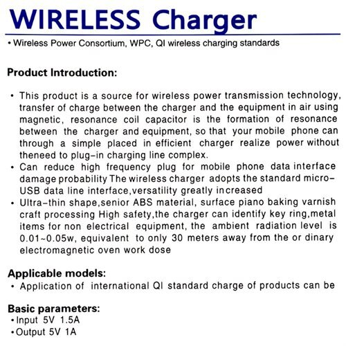 ABLEGRID QI Wireless Charger Charging Pad for Samsung HTC SONY  Nokia 2