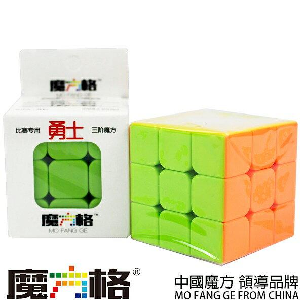 魔方格 勇士三階魔術方塊 (螢光色5.7cm)/一個入{定100} 比賽專用 奇藝三階魔方 3x3x3 ~首CS84912