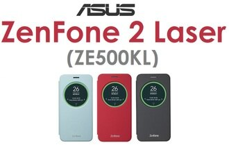 【原廠吊卡盒裝】華碩 ASUS ZenFone2 Laser (ZE500KL) 原廠智慧透視皮套 視窗側掀 側翻 S VIEW