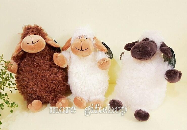 【more 禮品小舖】8吋 Q版坐姿小綿羊絨毛娃娃 玩偶、布偶