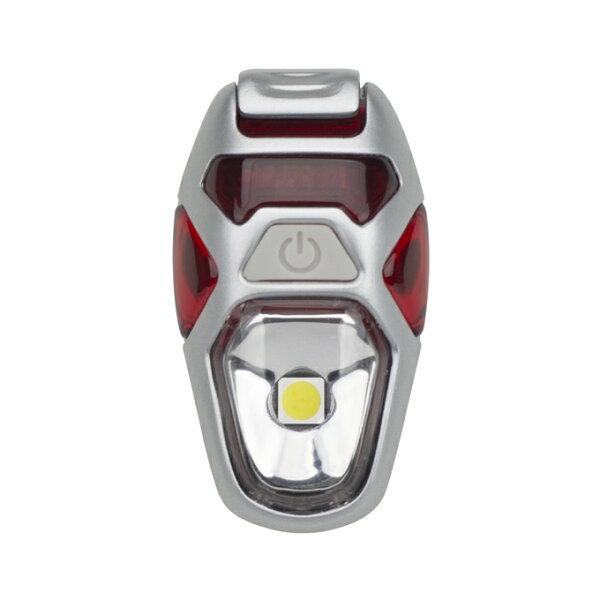 【露營趣】中和美國NATHAN獵戶座LED防水炫光夾Or野營ionStrobe警示燈夜跑慢跑自行車反光燈具NA5082NFR