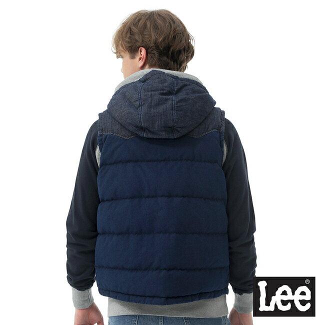 Lee 連帽羽絨背心 / RG-深藍色-男款 3