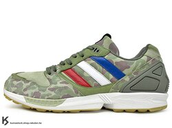 [27.5cm] 2012 限量發售 ADIDAS ORIGINALS x UNDEFEATED x A BATHING APE ZX5000 ZX UDFT BAPE 迷彩 綠迷彩 (Q34751) !