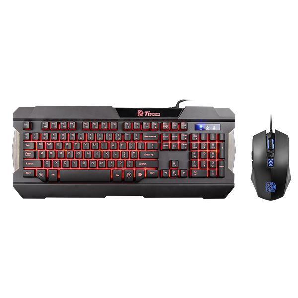 曜越TT軍令官三色電競鍵盤&滑鼠組鍵盤滑鼠組鍵鼠組電競鍵盤組遊戲鍵盤組電腦鍵盤組【迪特軍】