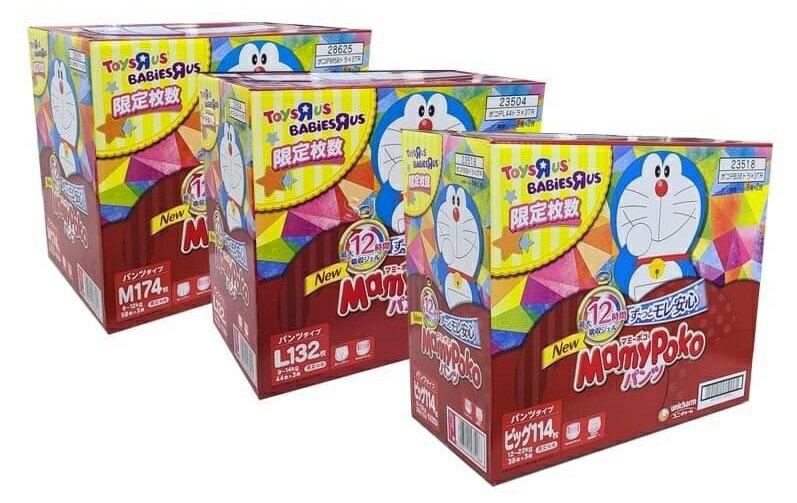 **免運可刷卡**(限量彩箱)日本境內 滿意寶寶 mamypoko紙尿布(多啦a夢版)[FIFI SHOP]
