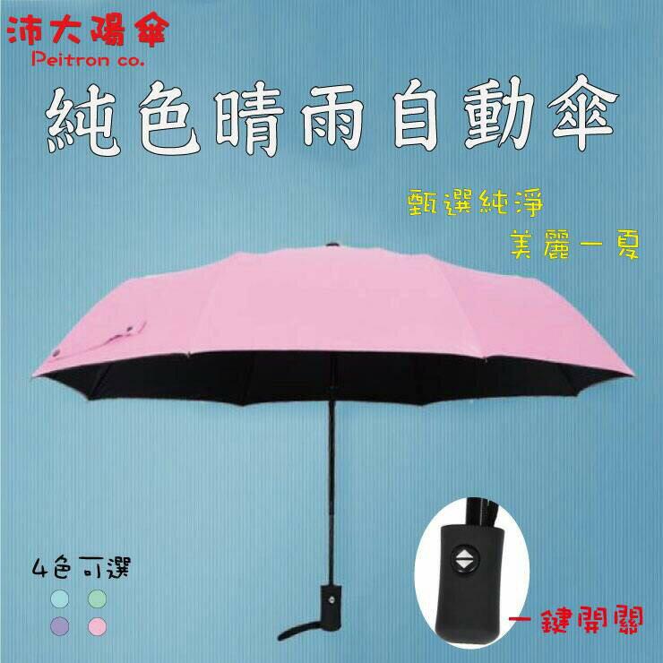 《沛大陽傘》全自動傘 內層黑膠 擋紫外線 晴雨傘 包包小物 遮陽一把罩 輕量化【U08】