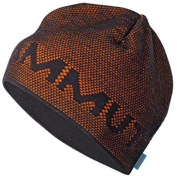 Mammut 長毛象 Stollen Beanie 頂級極限保暖快乾編織帽 1090-03440-0043 黑橘