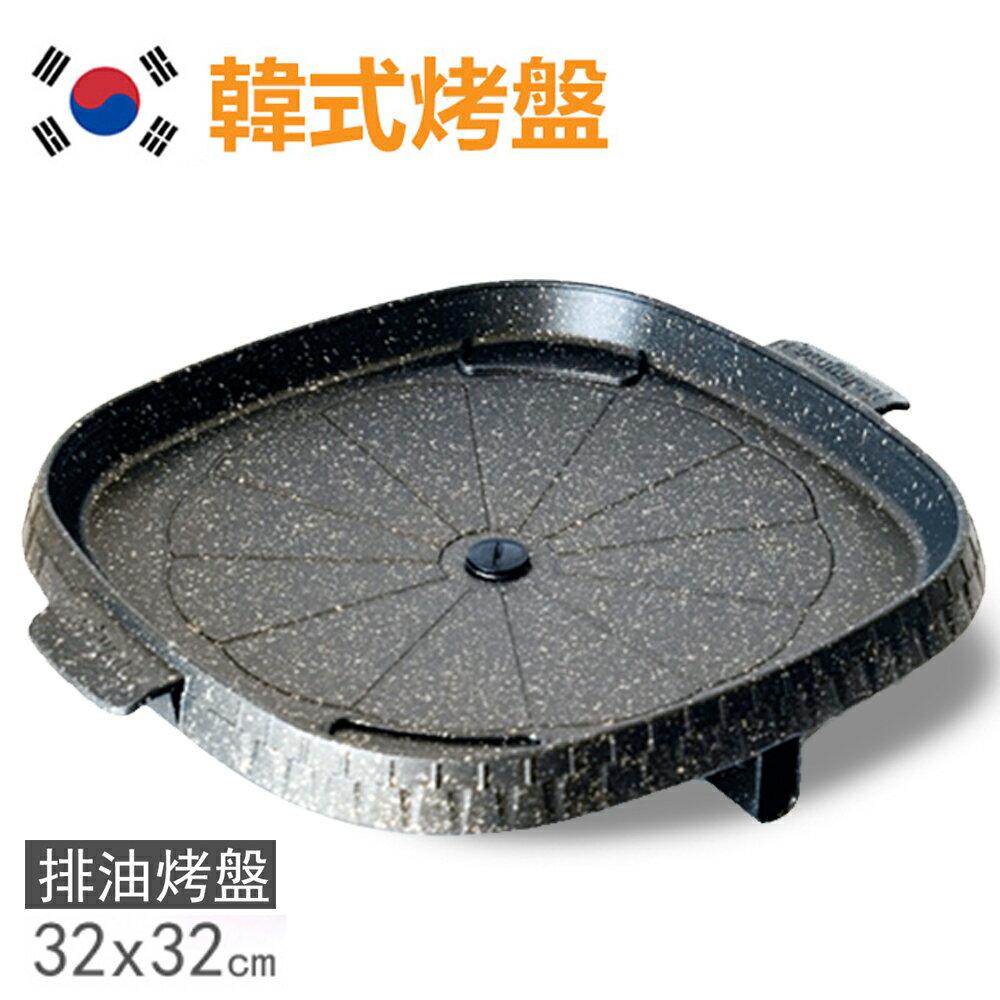【韓國Joyme】新一代兩用烤盤/不沾鍋烤盤/韓國烤盤(方形32cm)PA-02