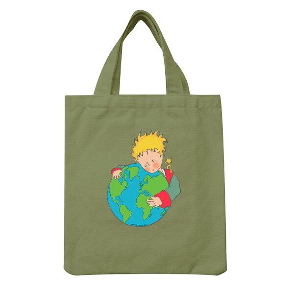 【小王子經典版】手提帆布包-第七個星球-地球(軍綠)