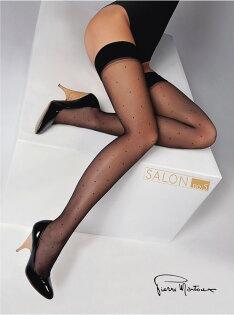 {55折}義大利PierreMantoux優雅小點點百搭高彈性大腿襪原裝進口