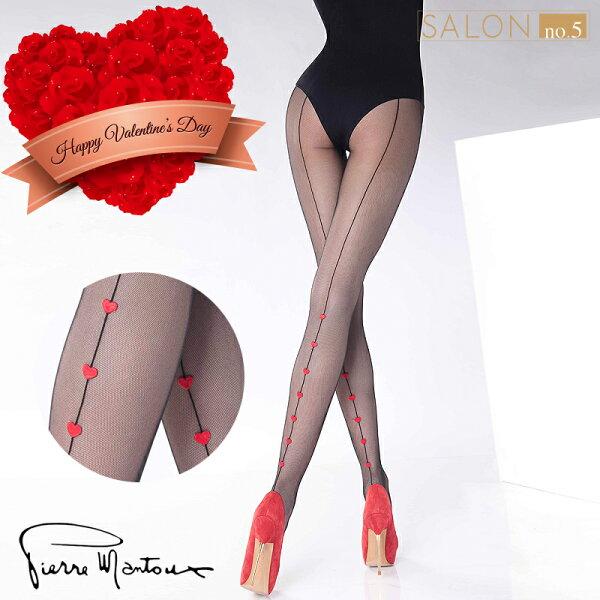 Salon No.5國際精品:{55折}義大利PierreMantoux性感背線可愛心形小網襪送好禮歐洲精品