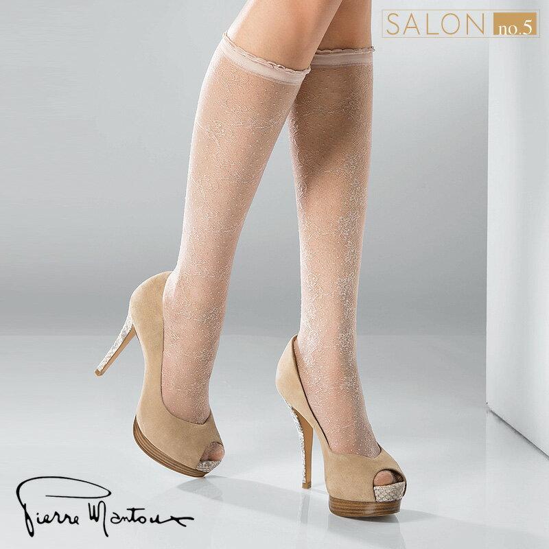 (55折) 義大利Pierre Mantoux優雅名媛細緻蕾絲短襪/及膝襪 俏皮點點