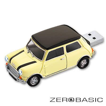 ????登芳3C????ZEROBASIC Mini Cooper 米白黑紋16G隨身碟