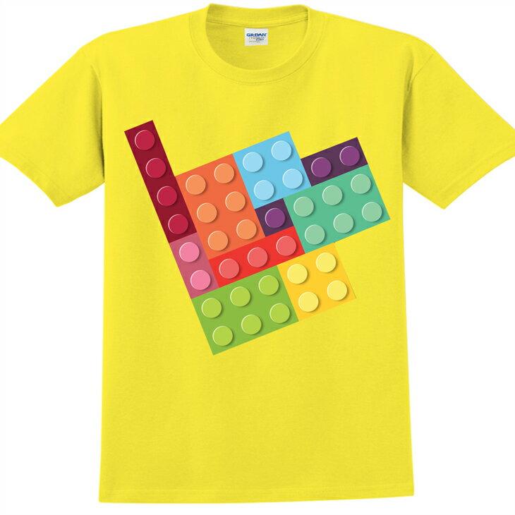 新創設計師- T恤:【樂高拼圖】修身短袖 T-shirt ( 黃 ) 850 Collections