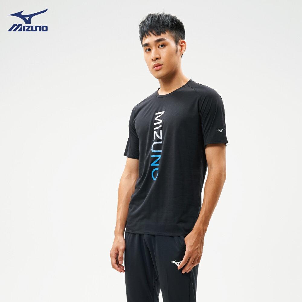 男款路跑袖T恤 J2TA900909(黑)【美津濃MIZUNO】 1