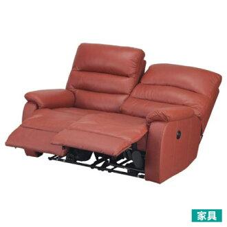 ◎全皮2人用頂級電動可躺沙發 BELIEVER2 RED