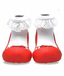 【特價1雙$599 / 任2雙$1090】韓國【Attipas】快樂腳襪型學步鞋-芭蕾紅 - 限時優惠好康折扣