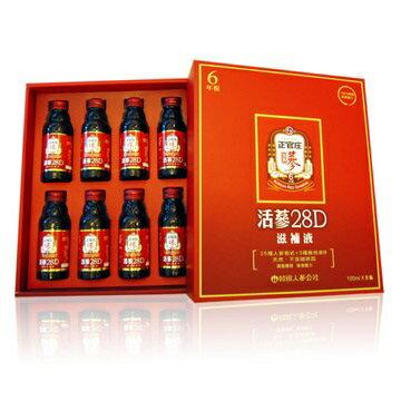 合康連鎖藥局:正官庄活蔘28D禮盒100ml*8入盒【合康連鎖藥局】