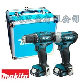 MAKITA 牧田 CLX201SX1 12V充電式起子電鑽+衝擊起子機雙主機超值套裝組