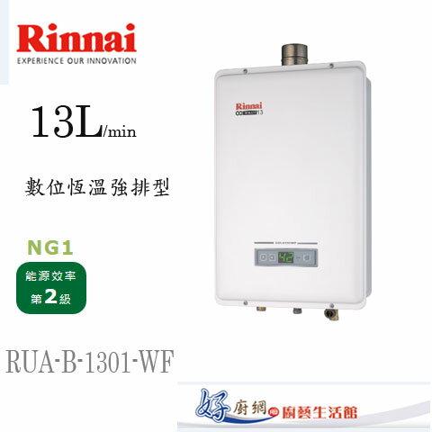 Rinnai-林內牌-原廠-RUA-B-1301WF-13公升數位恆溫強制排型熱水器