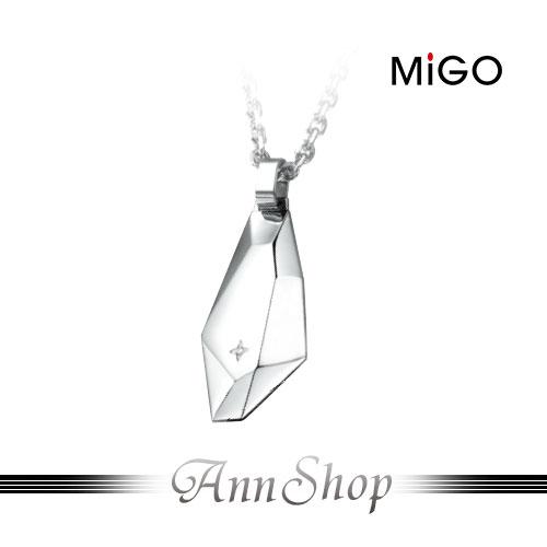 ~米格 MiGO‧愛的焦點白鋼項鍊~男款~情人 SPD695
