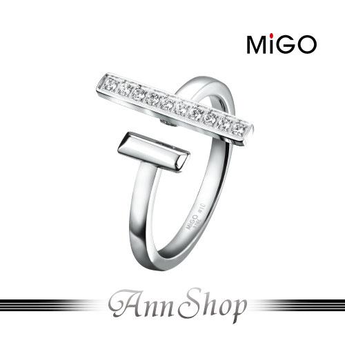 AnnShop小安的店銀飾精品:【米格MiGO‧自信白鋼戒指】鋼式飾品情人禮物戒指SR694