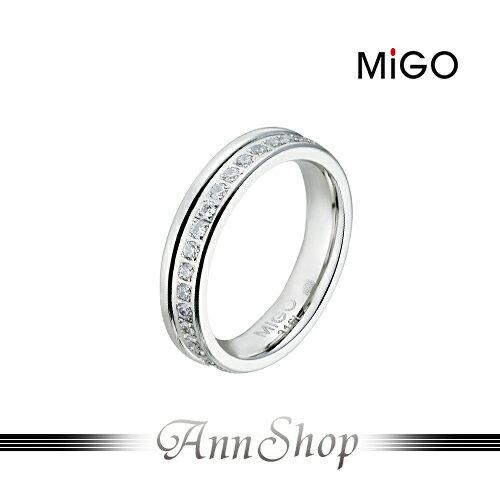 AnnShop小安的店~米格 MiGO‧燦爛白鋼戒指~~單個~情人 SR667