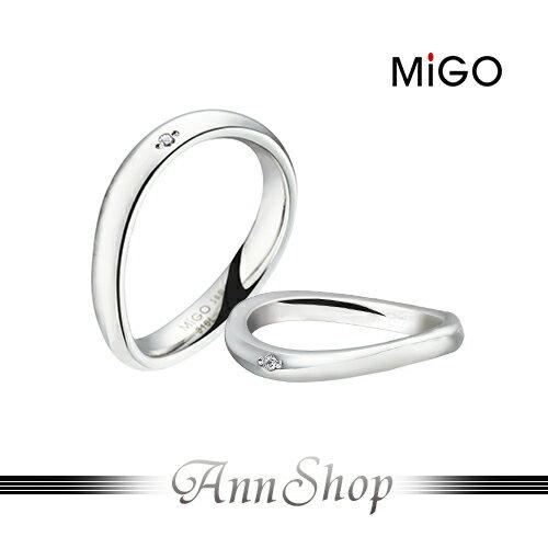 AnnShop小安的店~米格 MiGO‧柔情白鋼戒指~~單個~情人 情侶對戒SRD655~