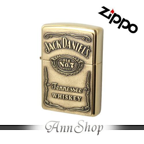 AnnShop【Zippo‧金銅Jack Daniel's威士忌ZIPPO打火機】全球知名防風打火機‧情人禮物254BJD428