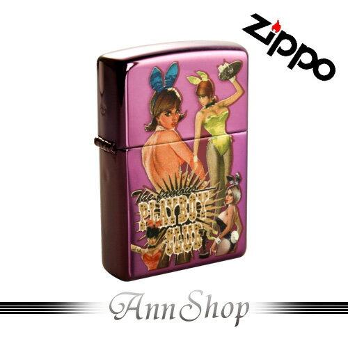 AnnShop【ZIPPO•PLAYBOY 50週年兔女郎限量款-紫】銀飾精品時尚防風美系煤油式打火機24869