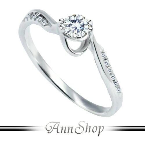 AnnShop【清麗心綺鋯石鑽石純銀戒指•925純銀】可客製化鑽石珠寶銀飾禮品ZR583