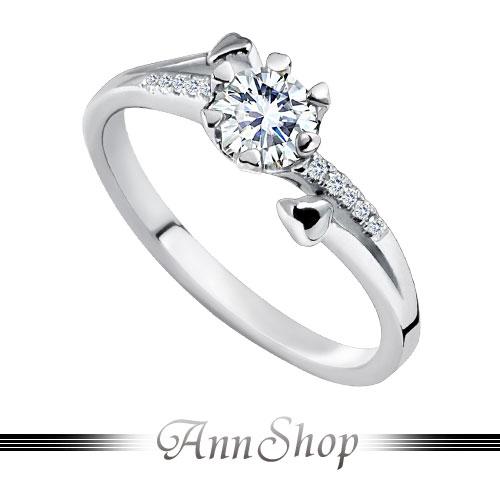 AnnShop【心晨物語鋯石鑽石純銀戒指•925純銀】可客製化鑽石珠寶銀飾禮品ZR670