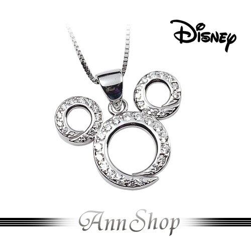 AnnShop小安的店【迪士尼‧米奇鑲鑽項鍊】【限量預購】晶鑽鏤空Mickey飾品S1MP1106