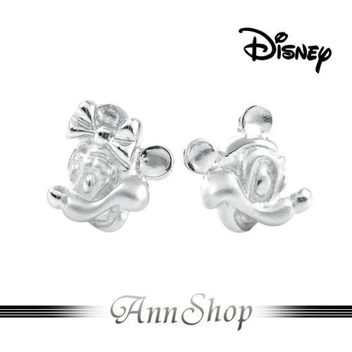 AnnShop小安的店【迪士尼‧含情脈脈米奇耳環】【限量預購】純銀飾品情人禮物S1ME533