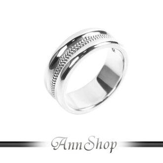 AnnShop【凹面雙鍊戒指•925純銀】小安的店金屬編織風珠寶銀飾禮品r91960