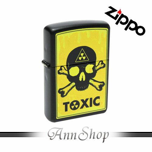AnnShop【ZIPPO•致命有毒打火機】小安的店日系趣味骷鏤頭彩印上色防風防水美式打火機28310