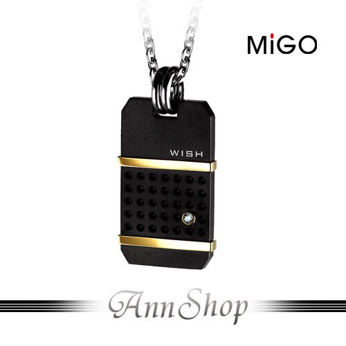 AnnShop【米格MiGO•希望Wish白鋼情人項鍊-男】小安的店鈦金鑲施華洛世奇禮品SP471