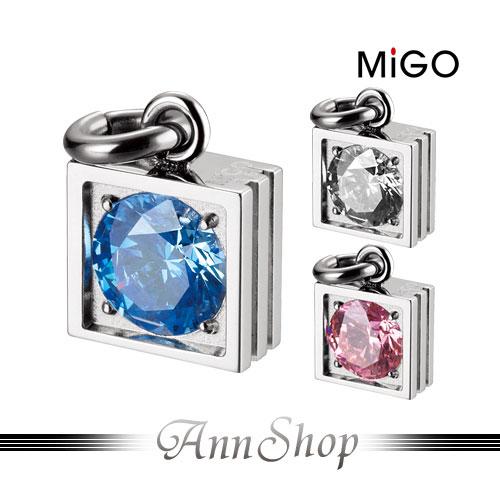 AnnShop~米格MiGO•星鑽^(白  粉  藍^)白鋼項鍊~小安的店低調 奢華鑲施華