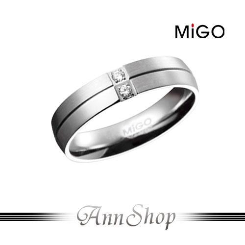 AnnShop【米格MiGO‧珍愛白鋼情人戒指-男】小安的店雙層次簡約珠寶銀飾禮品SR465