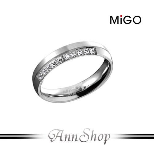 AnnShop【米格MiGO‧珍愛白鋼情人戒指-女】小安的店雙層次簡約珠寶銀飾禮品SR466